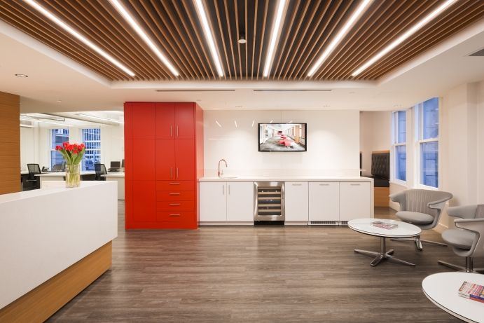 Interior design of the Fusion Projects, a construction firm in Vancouver by award-winning interior design firm SSDG Interiors Inc.