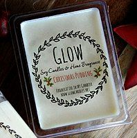 'Christmas Pudding' scented soy melts from Glow's Christmas Collection 2014.