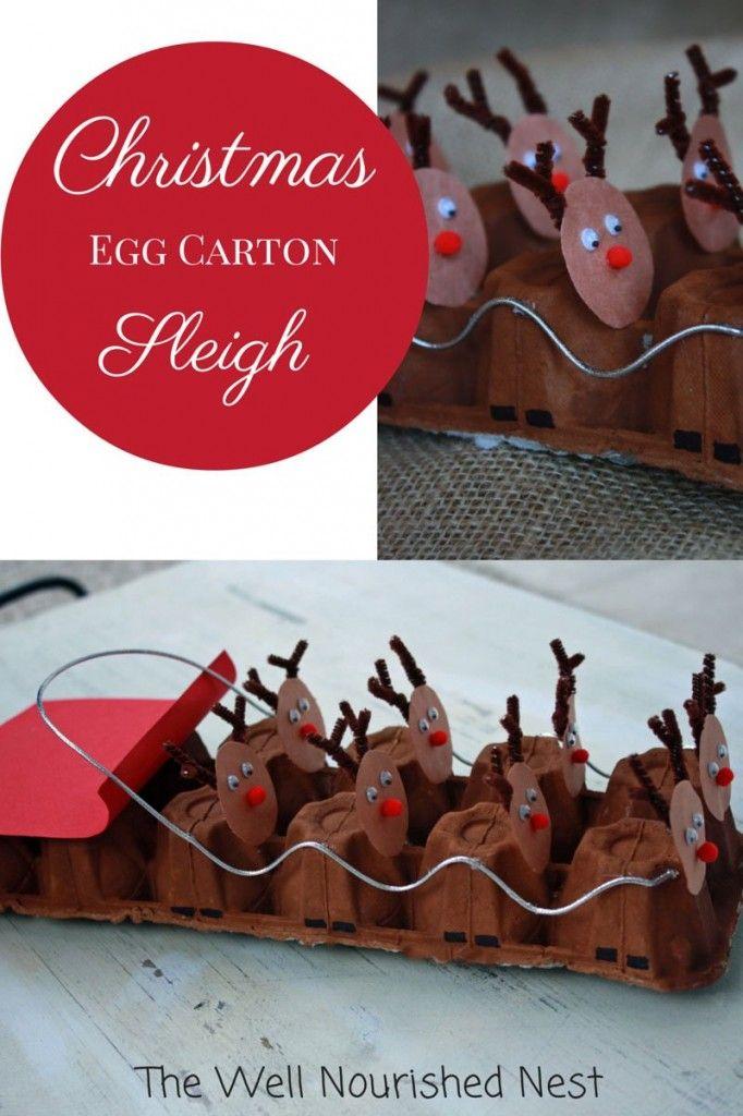 Reindeer Sleigh � made from Egg Cartons
