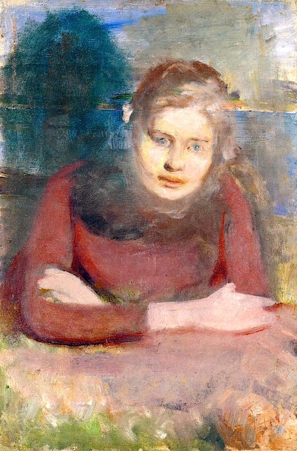 Aasta Carlsen 1888-1889.  Edvard Munch painted this lovely portrait when he was 26 years old.