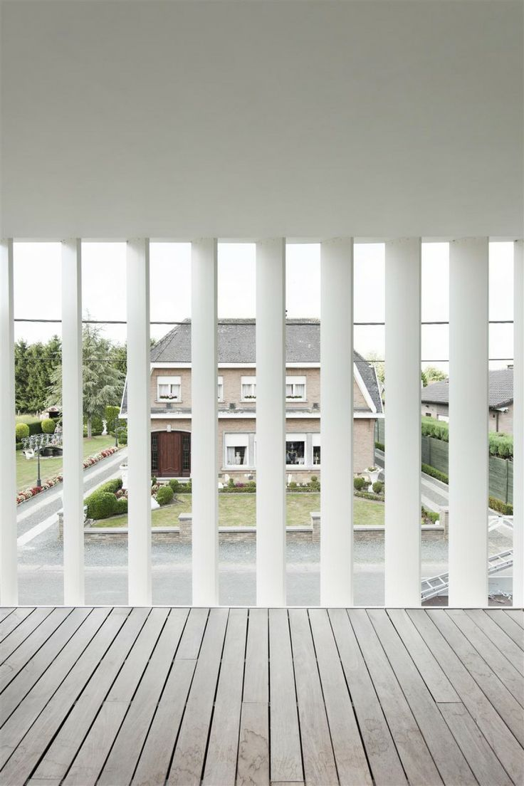 In the design of House K in Buggenhout Belgium Graux & Baeyens develop the  two key themes of relationship with surroundings and distribution of light