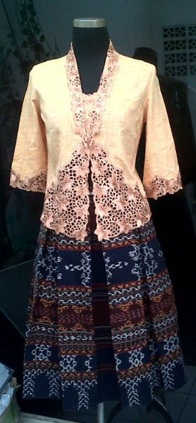 Skirt ikat with kebaya so cute