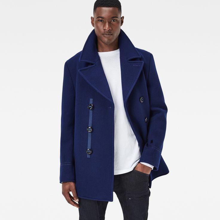 G-Star RAW | Heren | Winterjassen | Wool Pea Coat , Imperial Blue