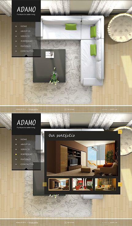 Adamo Interior Flash CMS Template