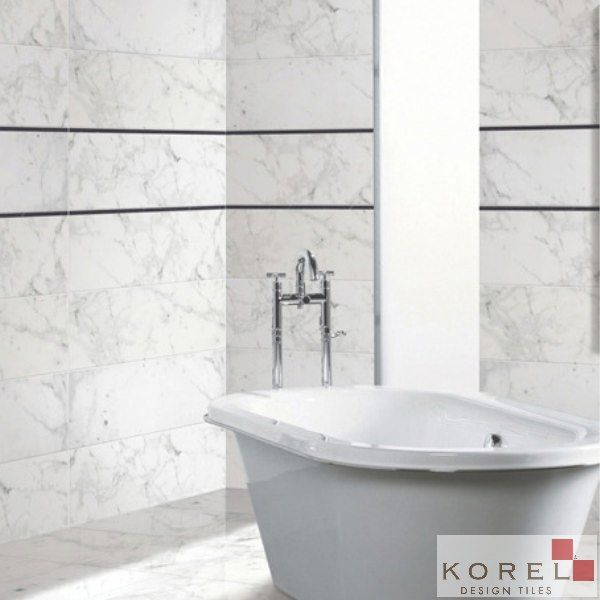 Shower Wall Tile Carrera White Glazed Porcelain Korel S Design Costco 4