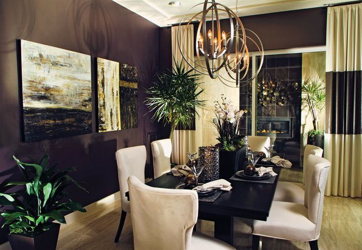 Progress lighting equinox fixtures in a toll brothers home for Property brothers dining room designs