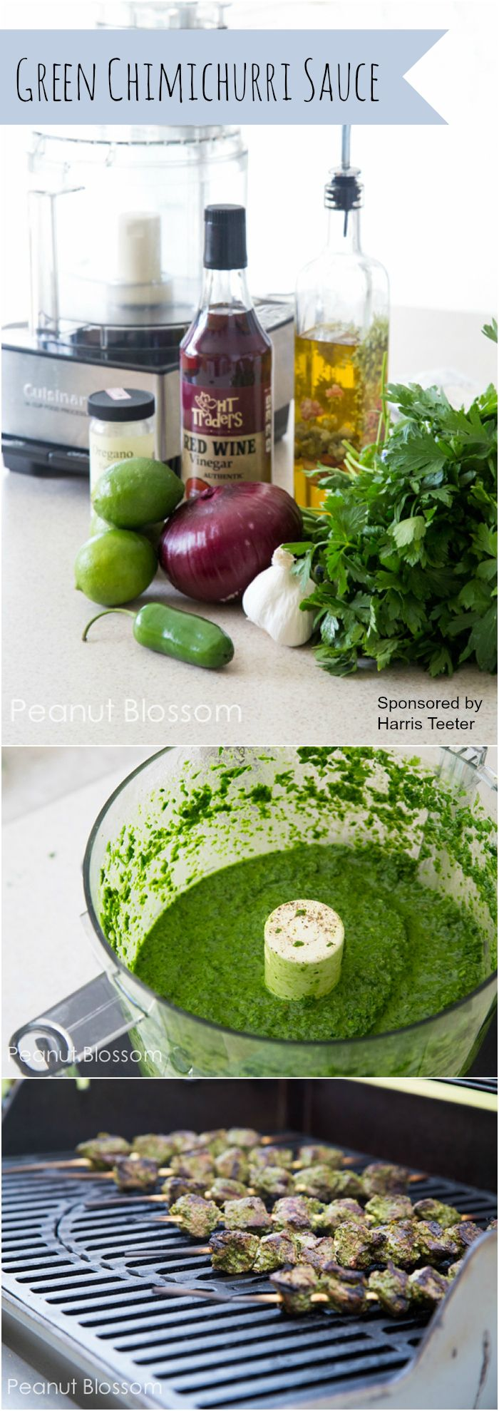 Green Chimichurri Sauce by peanutblossom.com: Awesome marinade and sauce for grilled steak. So fresh and bright!  #Chimichurri_Sauce