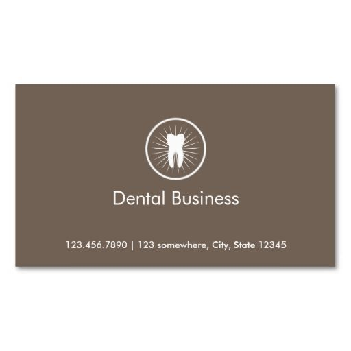 Simple Tooth Icon Dental Appointment Business Card. This great business card design is available for customization. All text style, colors, sizes can be modified to fit your needs. Just click the image to learn more!