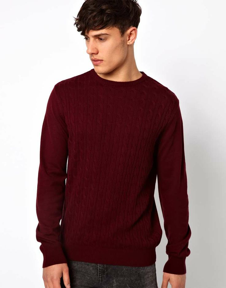 Love the River Island Lightweight Sweater on Wantering | mens burgundy sweater | mens pullover | menswear | mens style | mens fashion | wantering http://www.wantering.com/mens-clothing-item/river-island-lightweight-sweater/aaFqR/