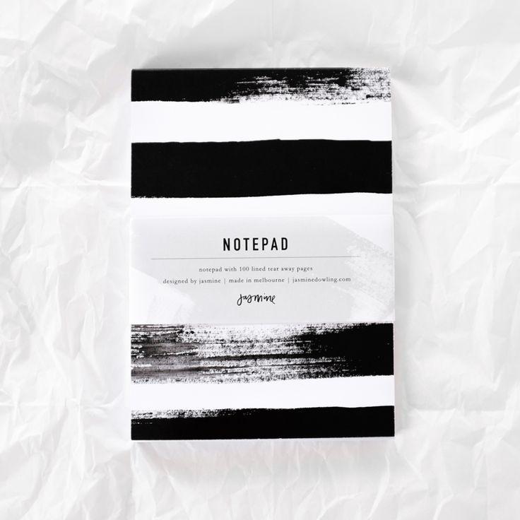 Striped Notepad by Jasmine Dowling