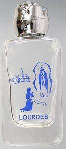 Glass Lourdes Water Bottle.