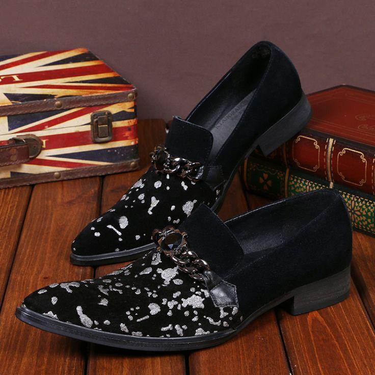 Neue Mode Männer Party und Hochzeit Handmade Loafers Wildleder Schuhe Ketten Business Männer Kleid Schuh Hausschuhe männer Wohnungen //Price: $US $83.00 & FREE Shipping //     #dazzup