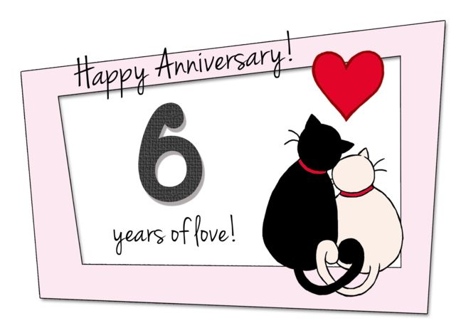 Happy 6th Wedding Anniversary Two Cats In Love Card Ad Spon Anniversary Weddin Happy 23rd Anniversary Happy 50th Anniversary 23rd Wedding Anniversary