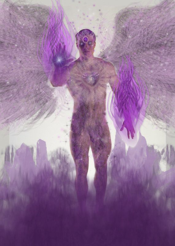 Archangel Zadkiel Angel of the Violet Flame by SpiritLightCards