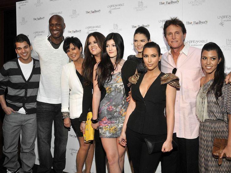 La familia Kardashian/Jenner con los años