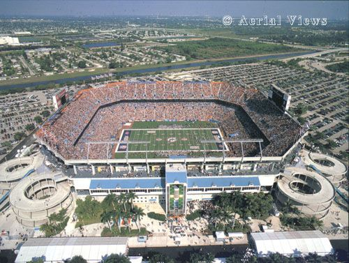 Sun Life Stadium, aka Joe Robbie Stadium - Home of the Miami Dolphins.