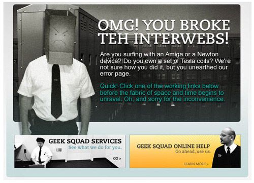 60 Really Cool and Creative Error 404 Pages - Hongkiat