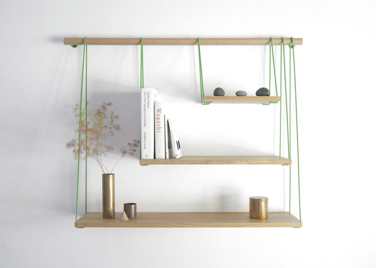 Bridge shelves, designed by Barcelona- and Singapore-based Outofstock are produced by the Danish company Bolia.