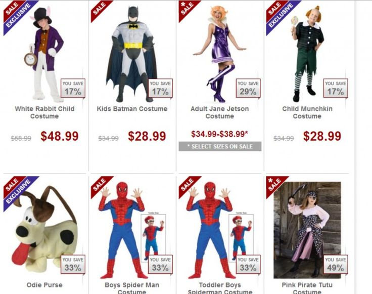 Save 10-90% on Clearance HALLOWEEN Costumes!