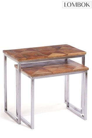 Buy Set of 2 Lombok Artisan Nesting Tables from the Next UK online shop £335
