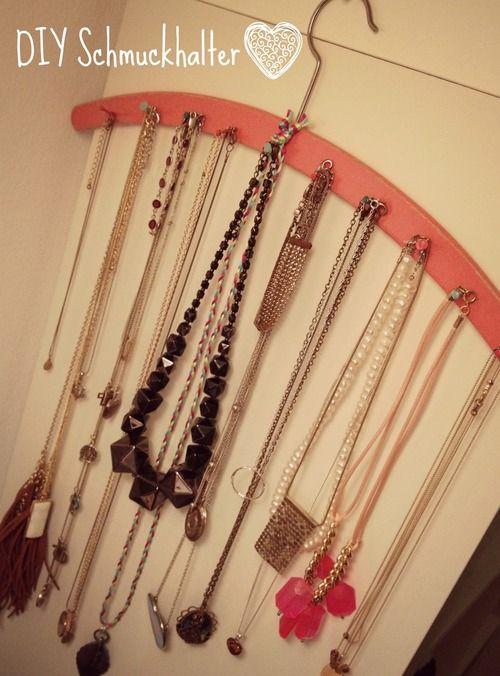 DIY Hanger Jewelry Display Tutorial