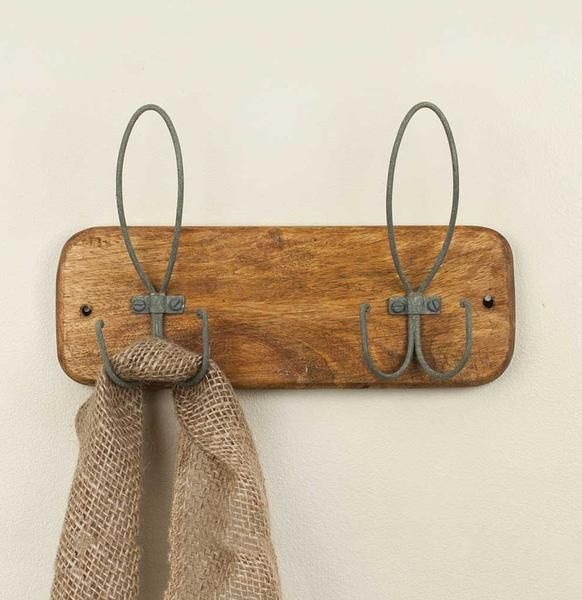His and Hers Farmhouse Wall Hooks / Towel Rack / Coat Rack