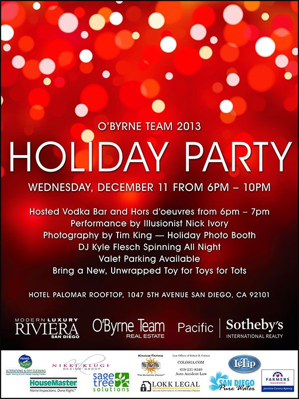 holiday office party flyer