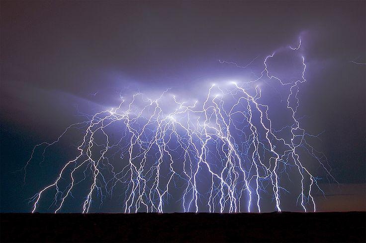 Lightning storm taken from Kielie Krankie Desert camp in the Kgalagadi Transfrontier Park, Kalahari Desert, South Africa: Photographed by Shane Saunders  (Cape Town, RSA)