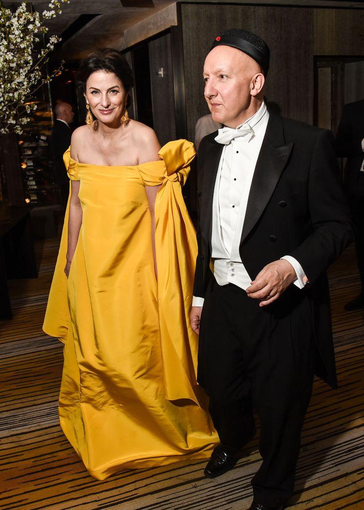 Marina Rust Connor with Stephen Jones at the 2015 Met Ball.