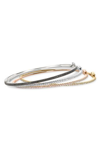 Bony Levy Skinny Diamond Bangle (Nordstrom Exclusive) available at #Nordstrom    THIS WOULD BE A WONDERFUL HOLIDAY GIFT!!! I tried one on today - perfection.