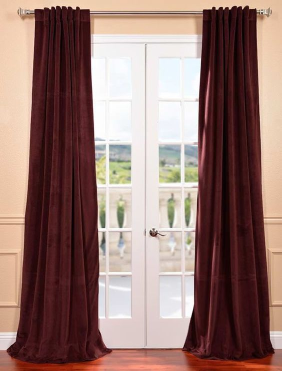 1000 Ideas About Burgundy Curtains On Pinterest