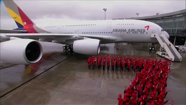 First A380 delivery to Asiana Airlines