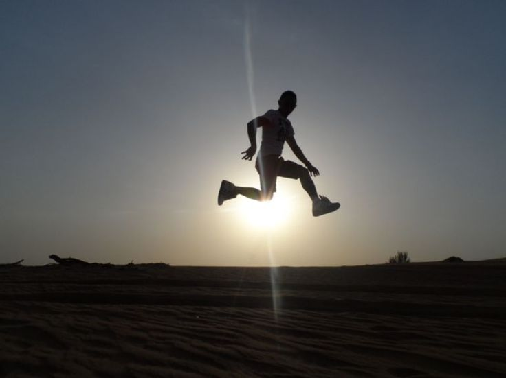 Dubai desert safari jump! #travel