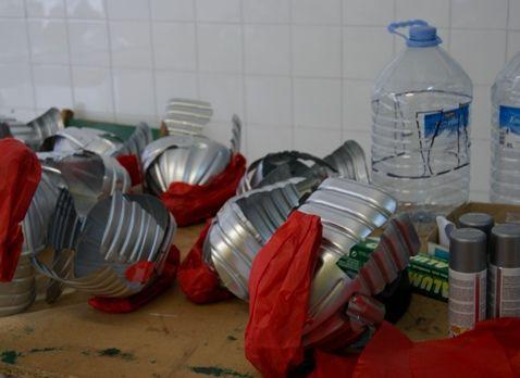 disfraz reciclado de romano