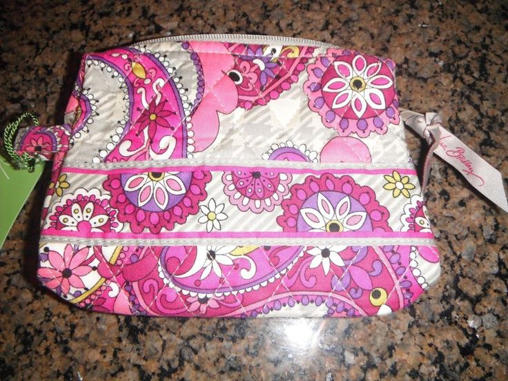 NEW Vera Bradley Paisley Meets Plaid small cosmetic bag #VeraBradley