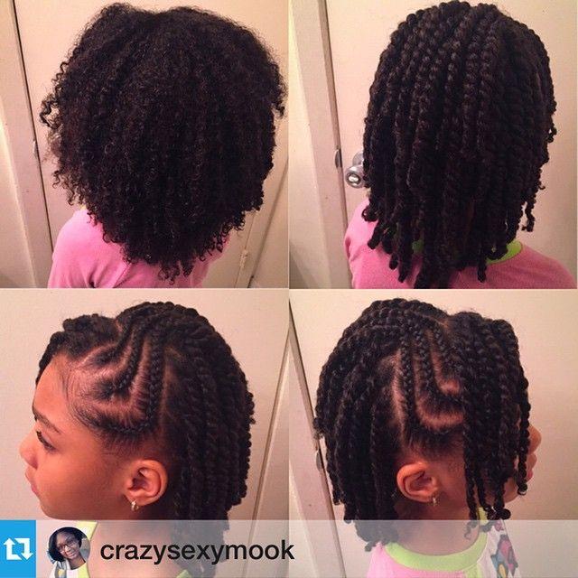 style de coiffure avec des cheveux naturels en twists (vanilles) et tresses collées (cornrows)