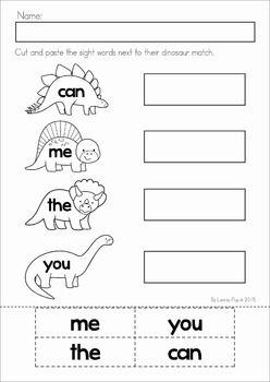 dinosaur preschool no prep worksheets activities teaching dinosaurs preschool preschool. Black Bedroom Furniture Sets. Home Design Ideas