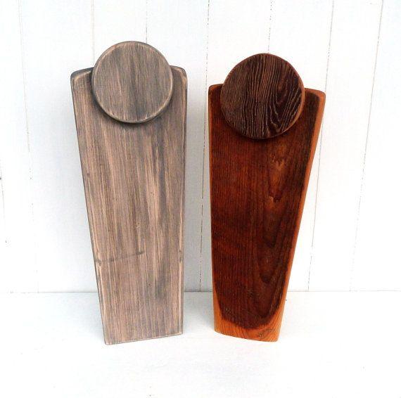 Présentoir à bijoux en bois de grange buste à par woodheartgifts, $24.00