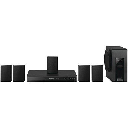 Panasonic Home Theater System SC-XH105 (Black) 5.1 Surround Sound Upconvert DVDs to 1080p Detail
