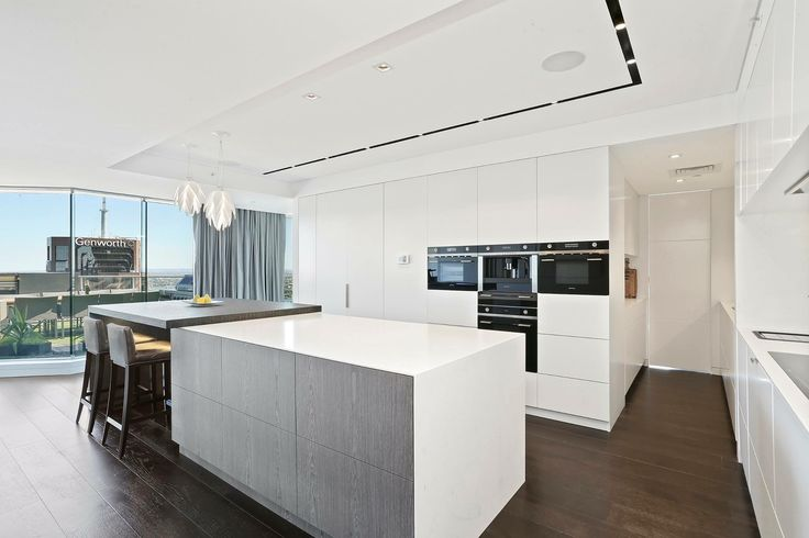 North Sydney Penthouse Kitchen designed by Jodie Carter Design. Photo courtesy of Savills Real Estate, Double Bay