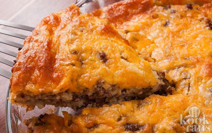 Deze cheeseburger-taart is een gegarandeerde hit op elk feestje! Ontzettend…