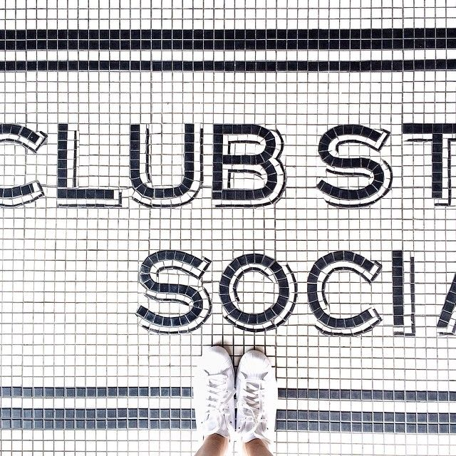 CLUB STREET SOCIAL - The mandatory tile shot at this brunch spot feat. new kicks