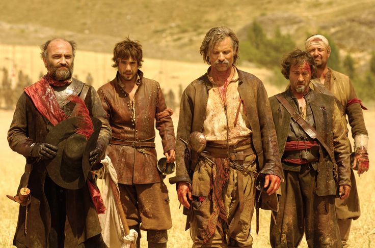 Viggo Mortensen in the 2006 Spanish movie, Alatriste -- all the books in the series were combined into one film.