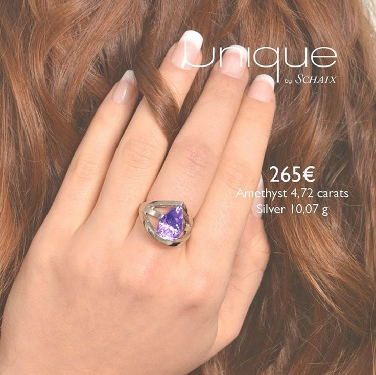 Amethysts are women's best friends Unique ring made of amethyst and silver, available on www.uniquebyschaix.fr #jewelry #jewellery #silver #amethyst #unique #handmade #madeinfrance #paris #passion #ring #shopping #fashion #love #women #precious