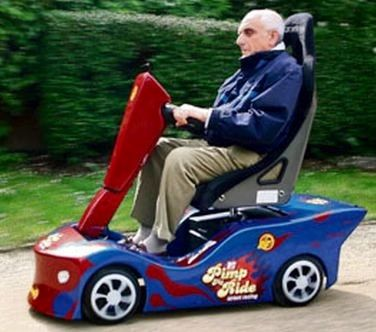 Elderly transport pimp my ride pinterest for Motorized scooters for the elderly