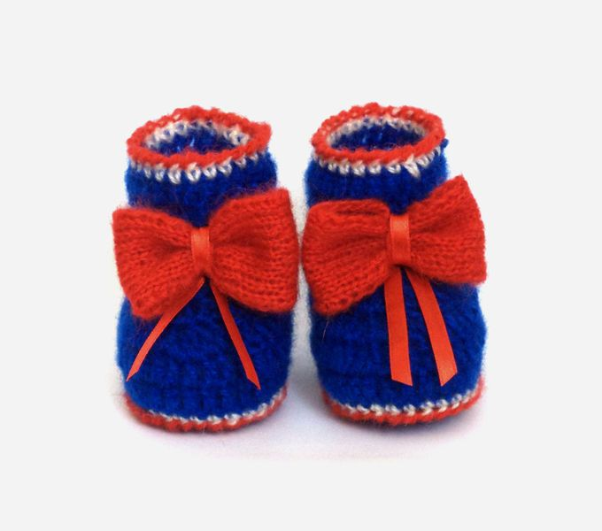 Knitted baby booties, knitting a baby, Baby Girl B from Crocheted booties, blanket, exclusive garments are handmade   LyudmilaHandmade by DaWanda.com