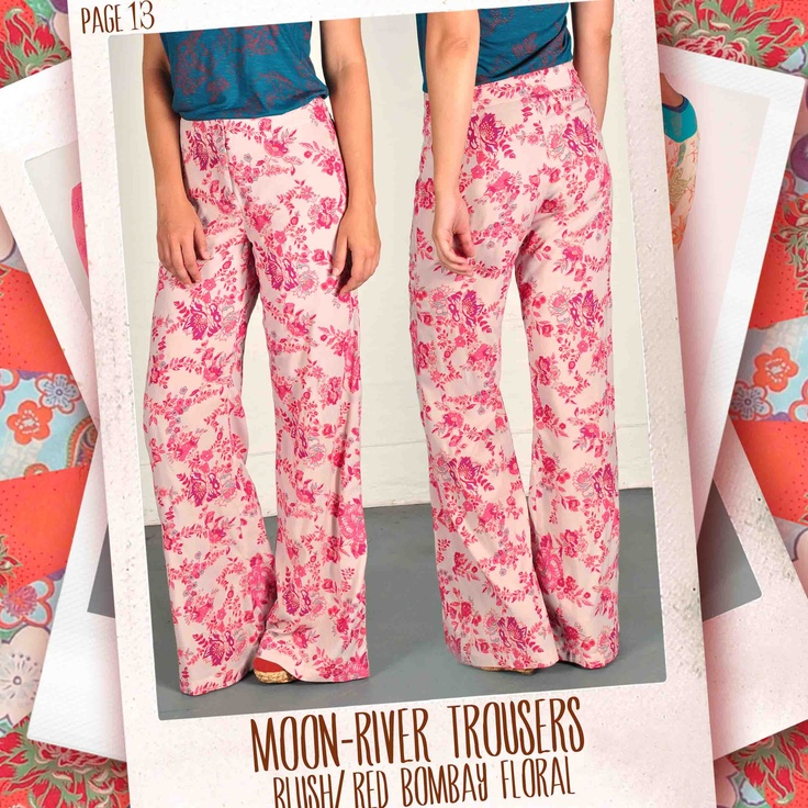 Moon-River trousers in Blush/ red Bombay Floral