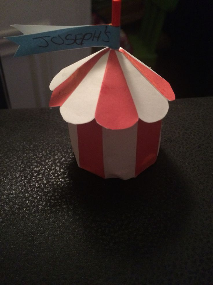 Little circus tents for decoration for my sons circus themed party