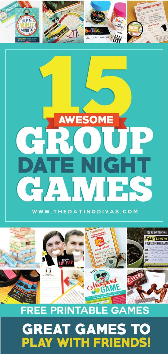 This needs to happen! These couples game ideas look so fun! Perfect for a group date night! www.TheDatingDivas.com