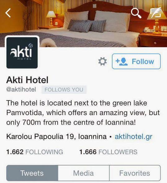 Twitter - Aktihotel - Ioannina - Epirus - Greece